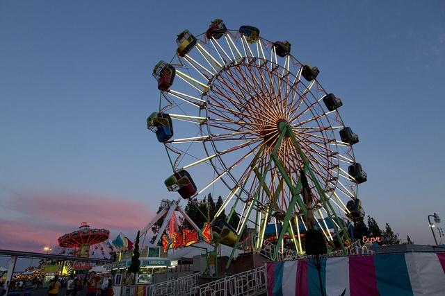 Carnival Scene Outside The San Antonio Stock Show And