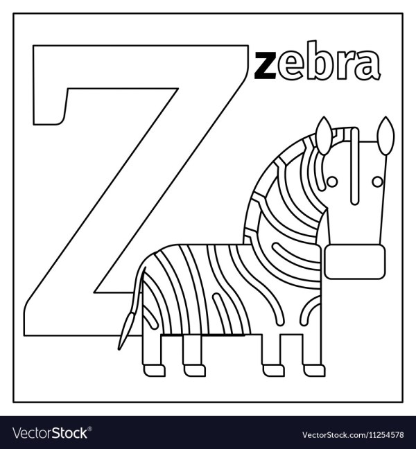 letter z coloring page # 38