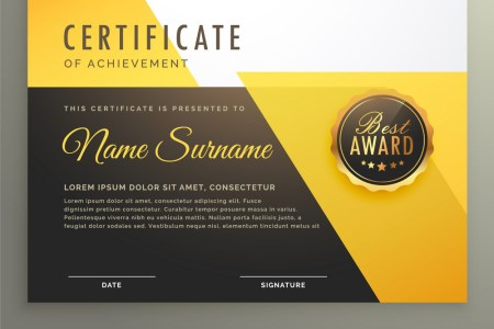 Modern certificate template with clean geometric Vector Image