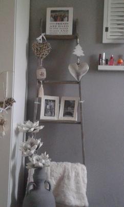 Houten Ladder Decoratie : Decoratieve houten ladder een houten ladder in je interieur het