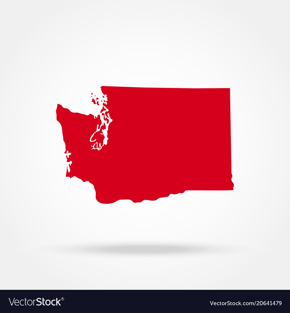 Map of the us state of washington Royalty Free Vector Image Map of the us state of washington vector image