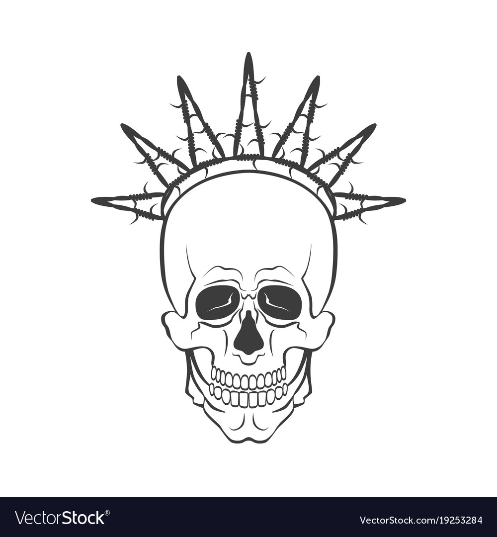 Skull with barbed wire symbol freedom royalty free vector