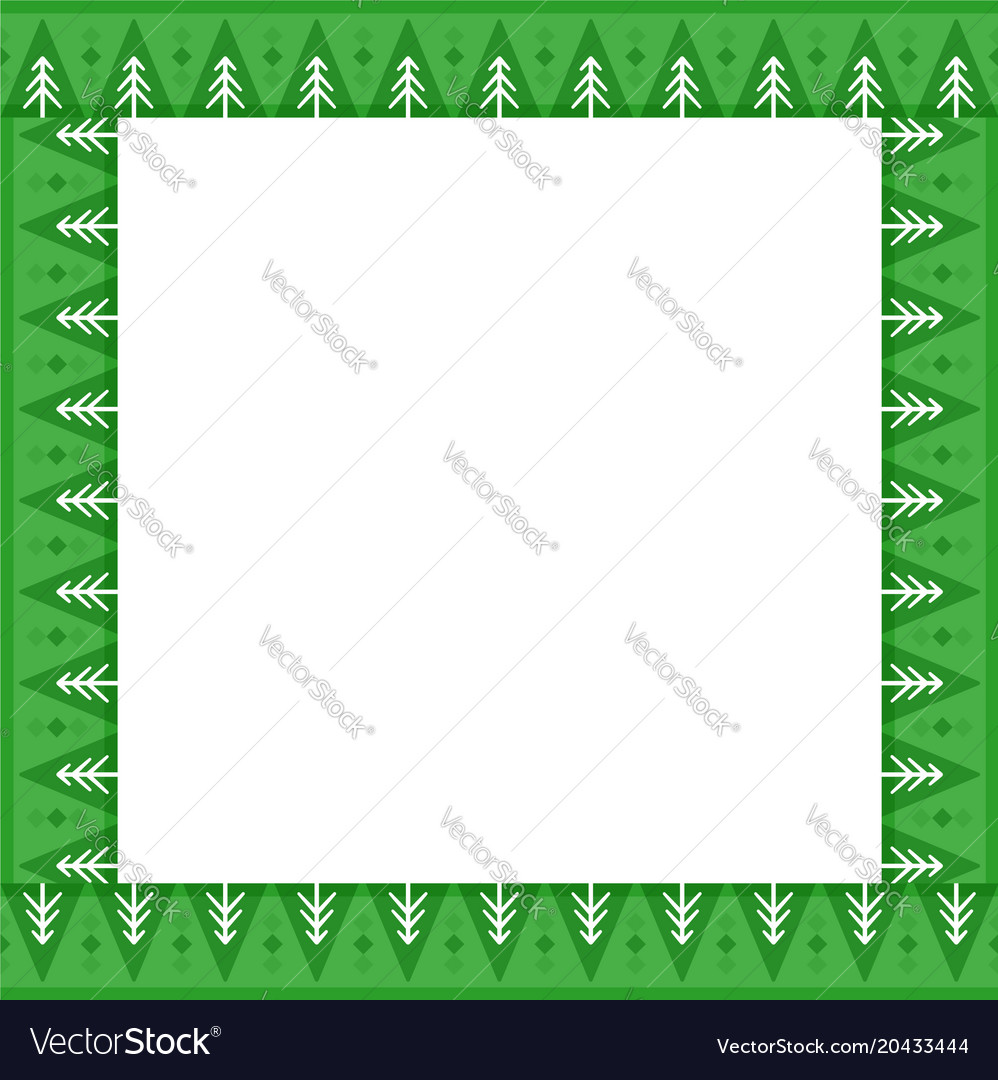 Cute christmas or new year border with fir trees Vector Image