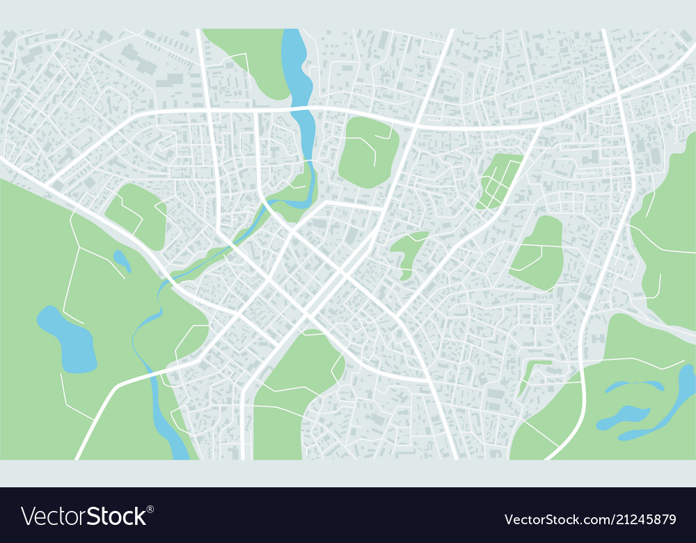Abstract flat map of city plan of town city Vector Image