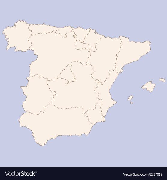Map of Spain Vector Image Map of Spain vector image