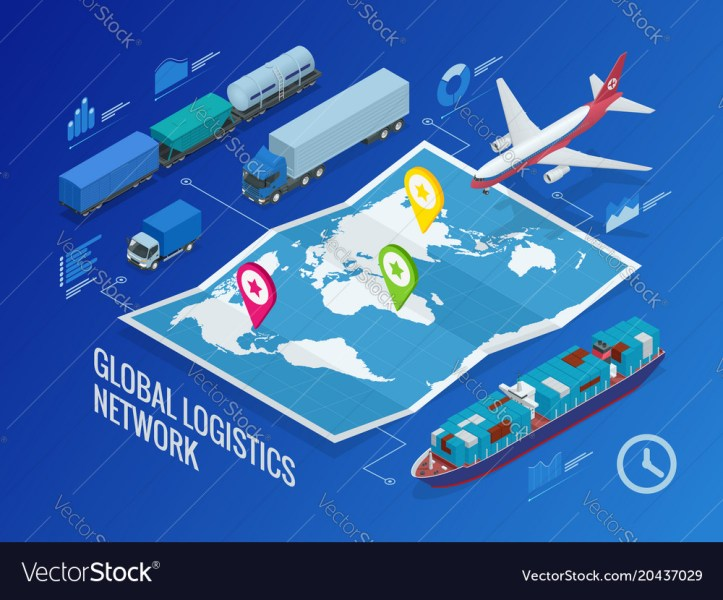 Global logistics network Royalty Free Vector Image Global logistics network vector image