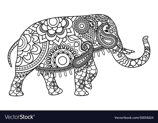 coloring pages elephant # 26