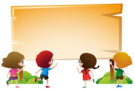 Borders  For  Kids  Of   Park Vector Images  over 100  Border template with kids in park vector