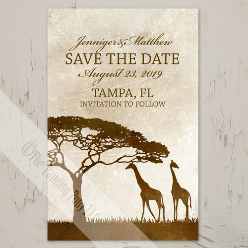 Zoo Themed Save Date Cards