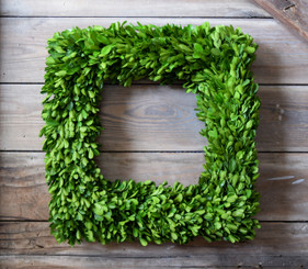 Boxwood Wreath - Artificial - Square | Mills Floral Company