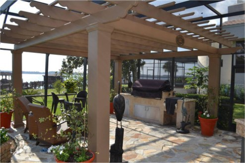 Covered pergolas for an outdoor kitchen BBQ pergola kit v2