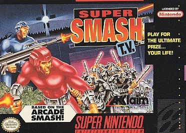 Super Smash T V Complete SNES Game For Sale   DKOldies Complete Super Smash T V   SNES