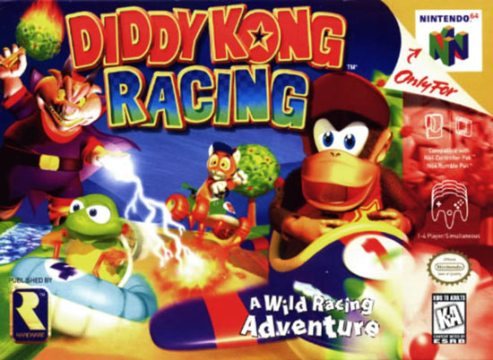 Diddy Kong Racing Nintendo 64 N64 Game For Sale   DKOldies Diddy Kong Racing Nintendo 64 N64 video game box art image pic