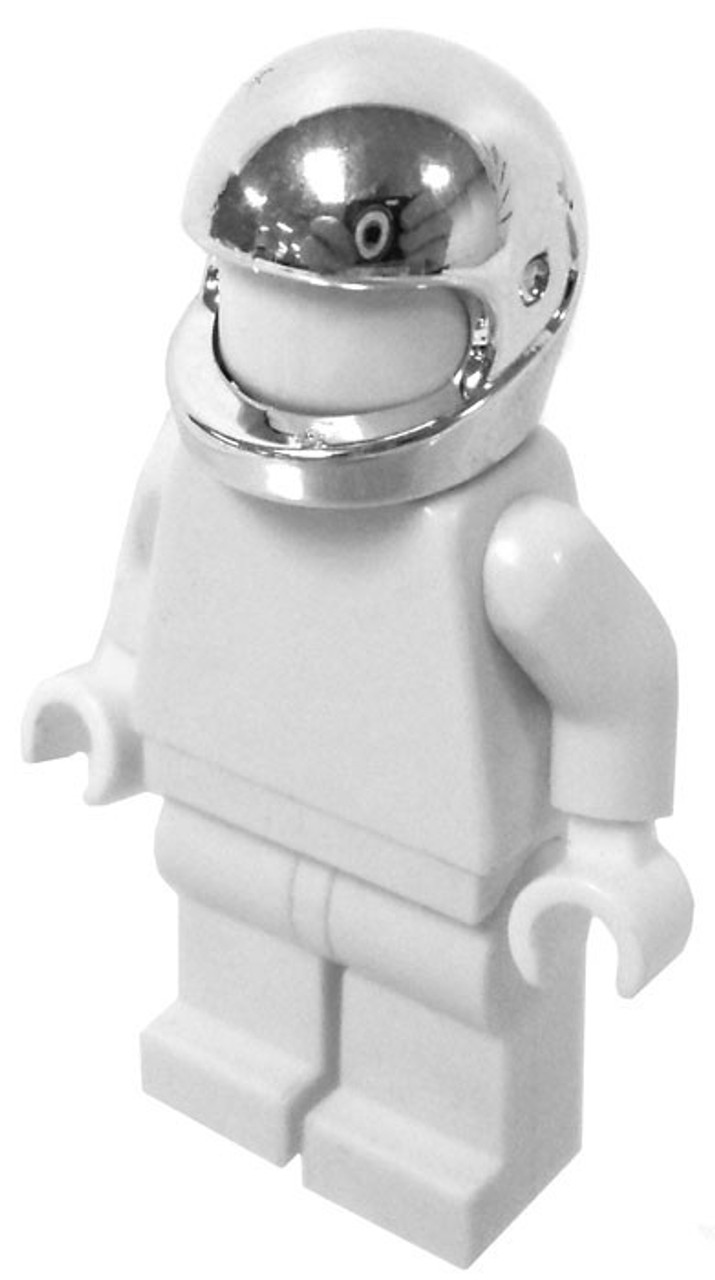 LEGO Headgear Silver Chrome Motorcycle Helmet Loose   ToyWiz LEGO Silver Chrome Motorcycle Helmet  Loose