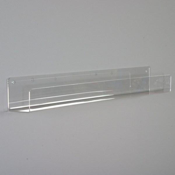 Clear Flat Shelves 3 1 2  Deep This flat bottom shelf made from high quality polished acrylic displays  your merchandise simply and with