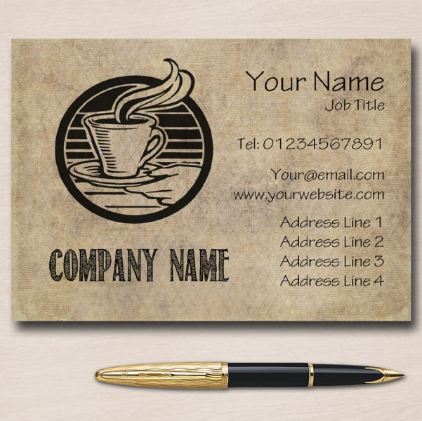 Cafe Coffee Personalised Business Cards   The Card Zoo Cafe Coffee Personalised Business Cards