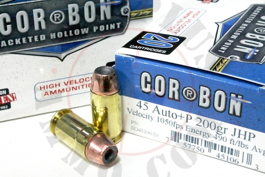 45 ACP 200 Grain JHP  P CORBON Self Defense   20 Rounds Surplus Ammo 45 ACP 200 Grain JHP  P CORBON Self Defense Pistol Ammunition  Jacketed Hollow