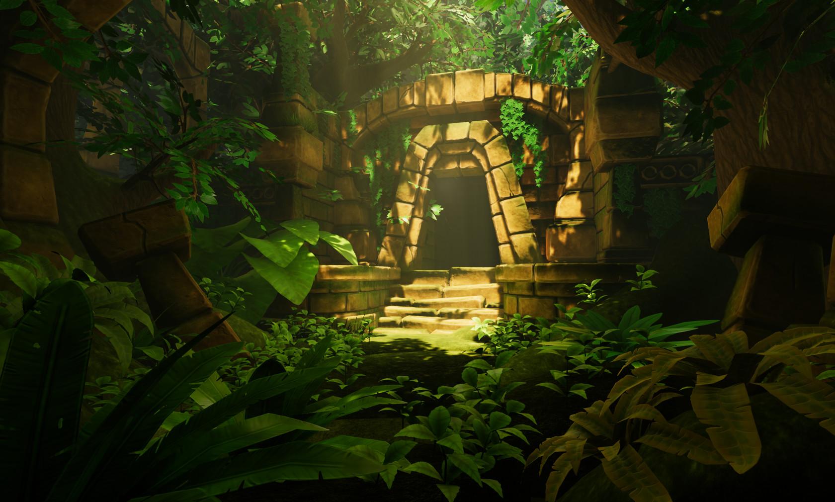 Artstation Forest Temple Entrance Tue Sander