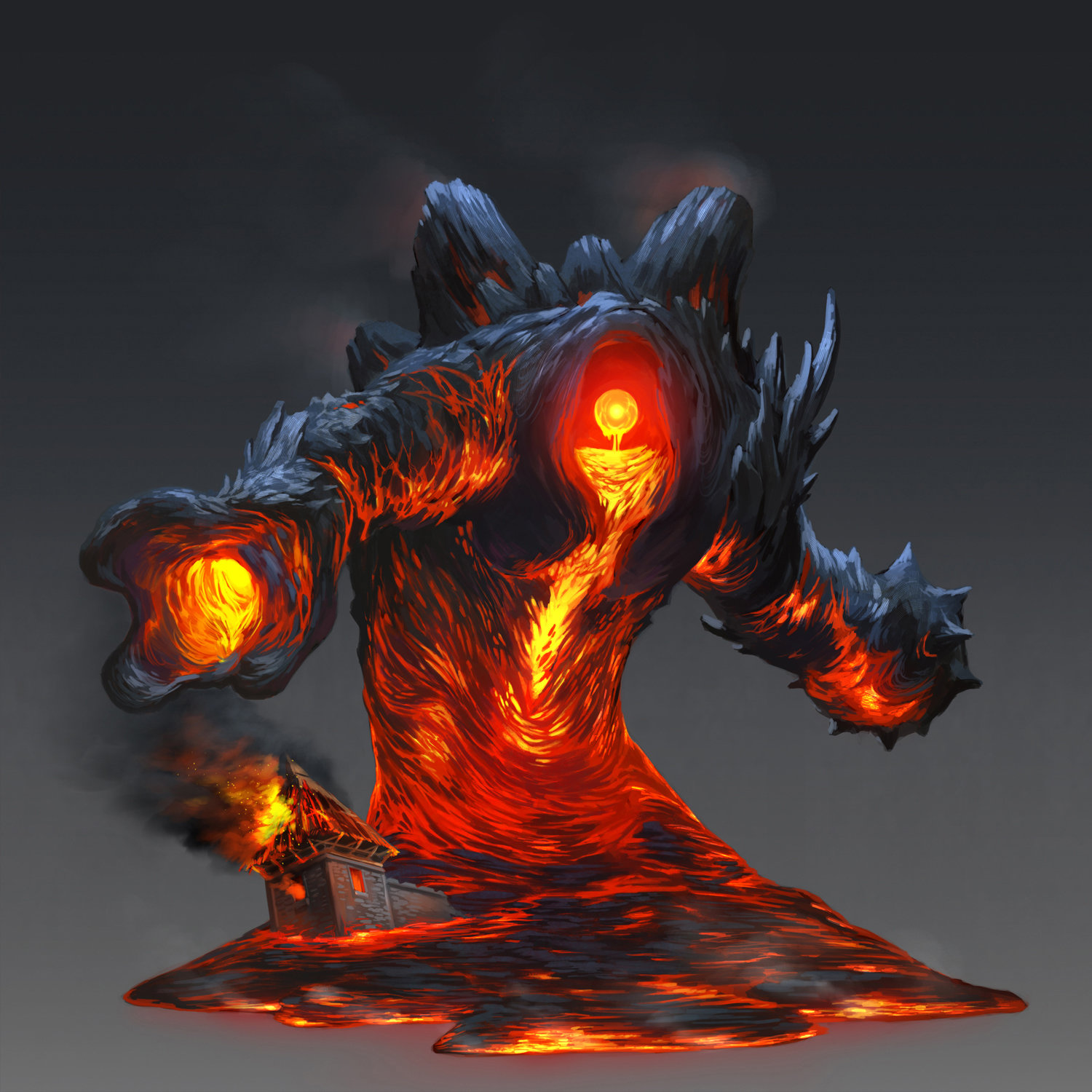 Lava Monster Concept Art