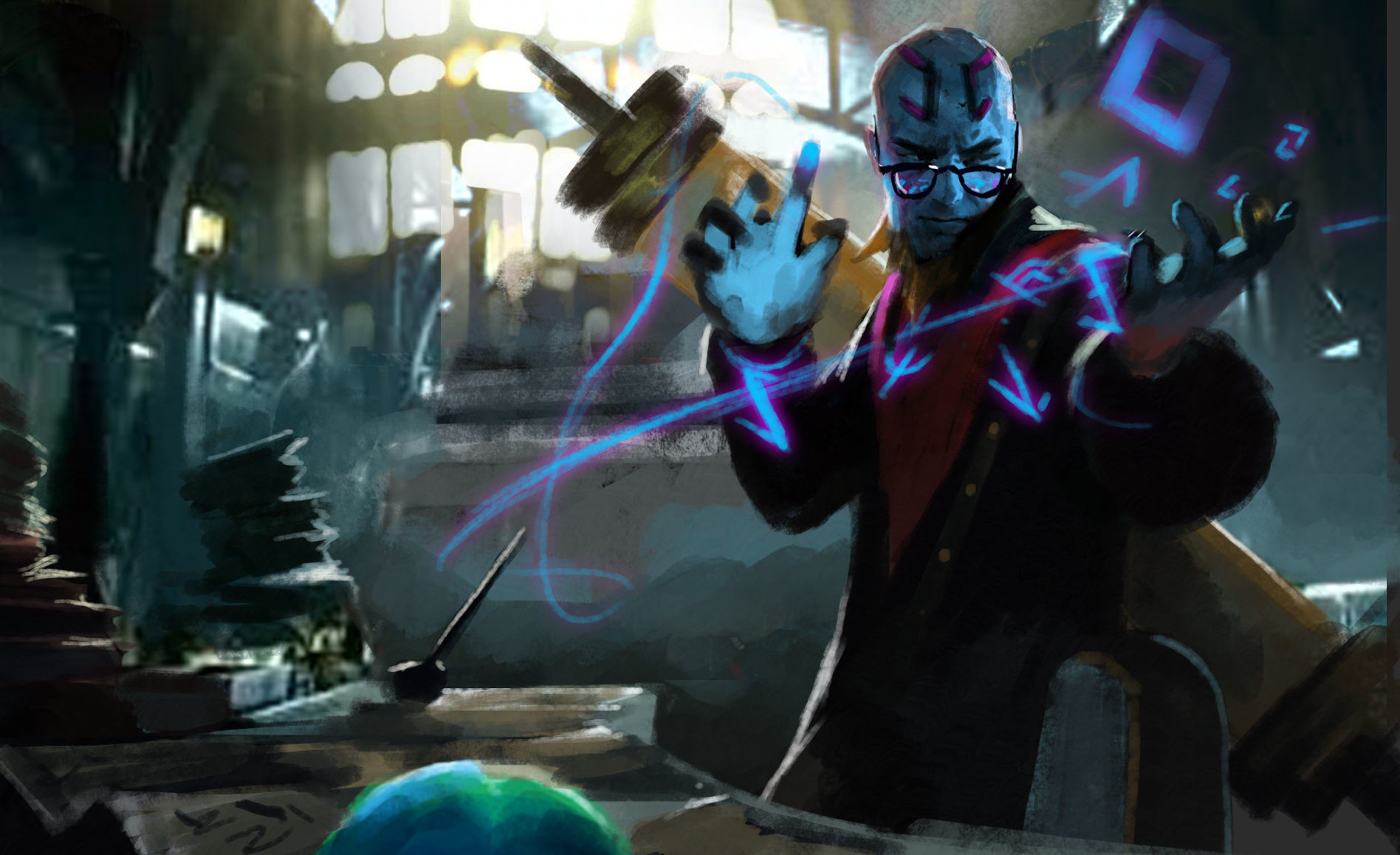 xi zhang - professor ryze splash art