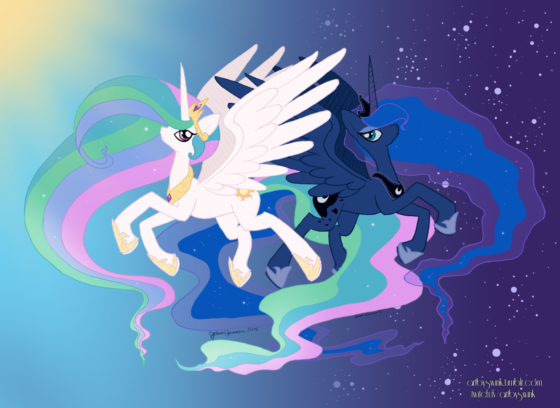 mlp celestia and luna parents - HD 1920×1399