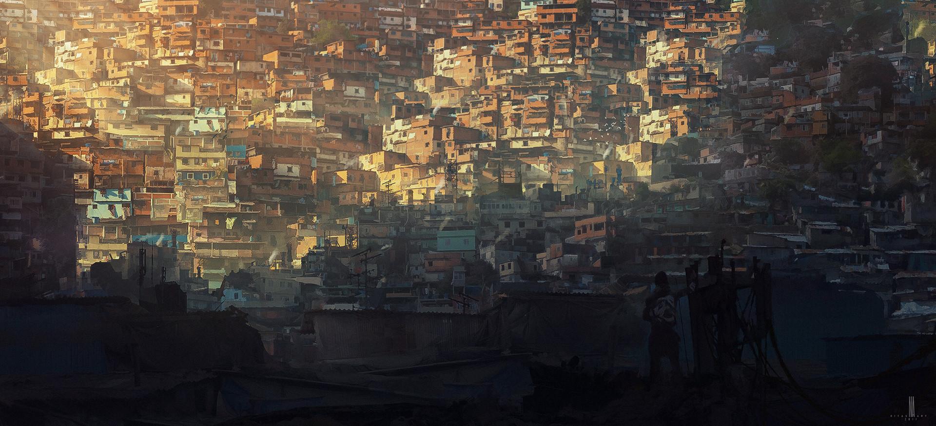 Artstation Vertical Slum Niyas Ck