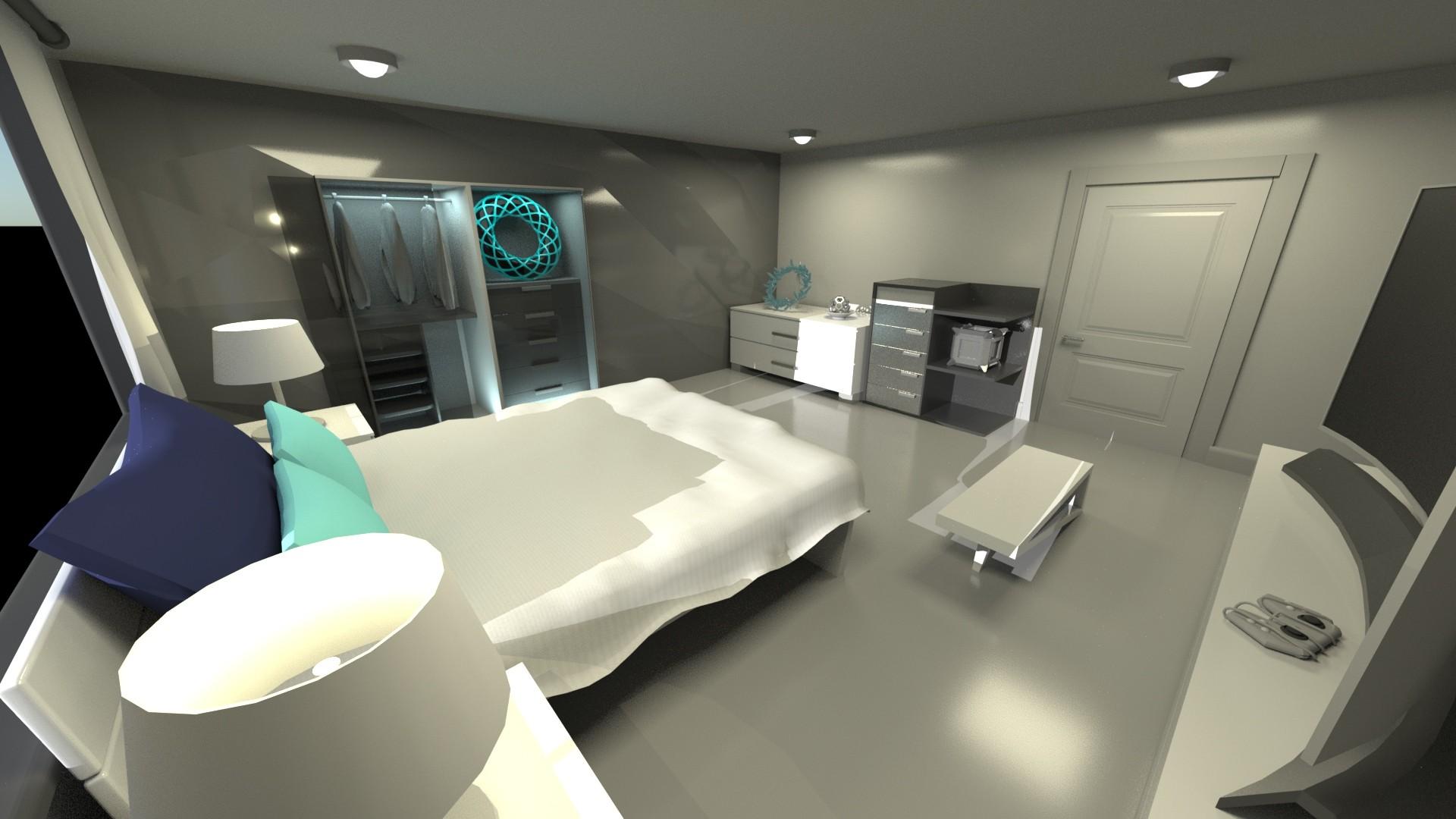 Artstation Small Modern Futuristic Room Chase B