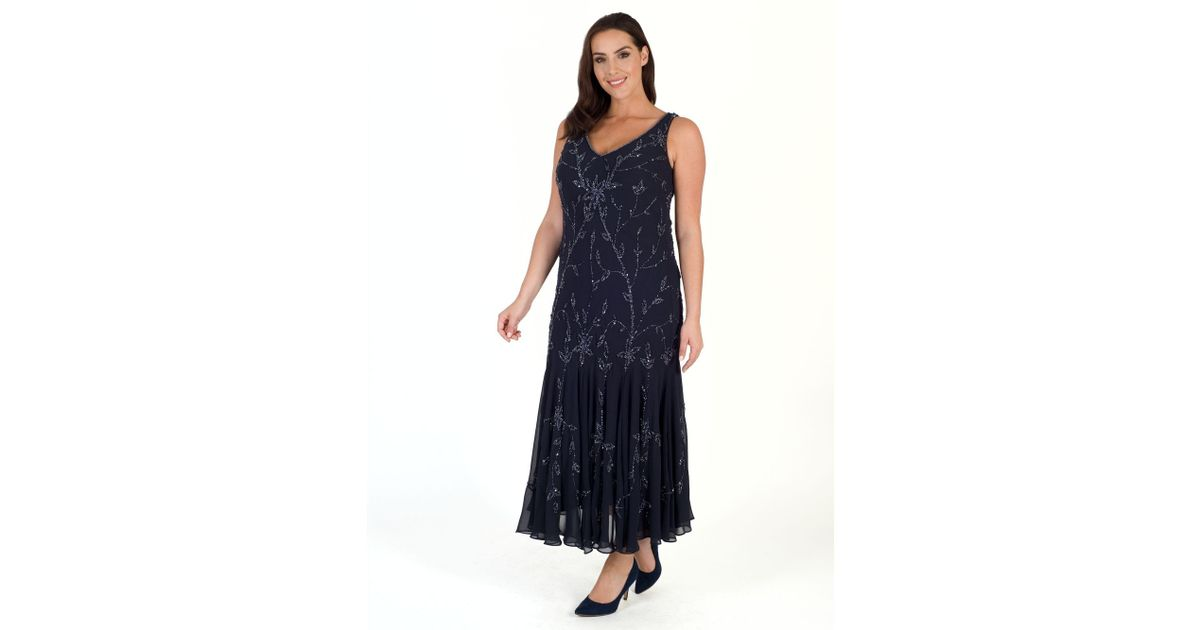 John Lewis Chesca All Over Beaded Dress in Blue   Lyst