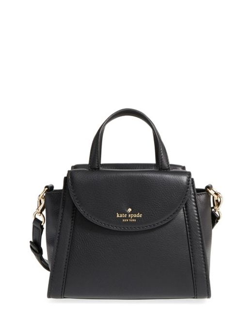 b3d9321e588d Small Black Satchel Spade Kate Leather
