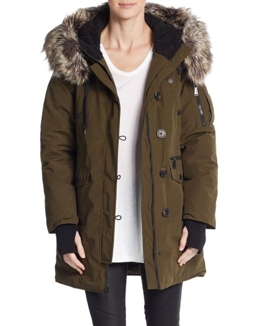 Mens Parka Fur Trimmed Hood
