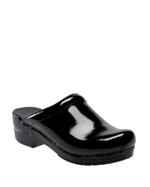 Dansko Patent Leather Clogs
