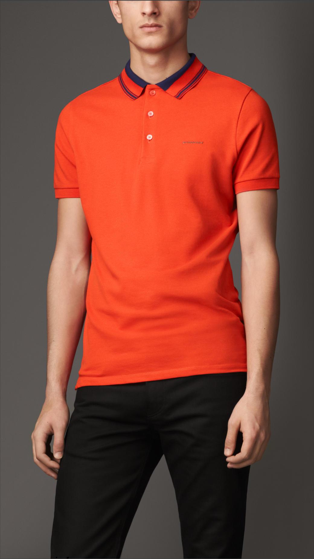 Burnt Orange Shirts Men