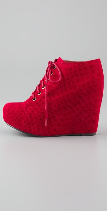 Booties Jeffrey Campbell Floral Red