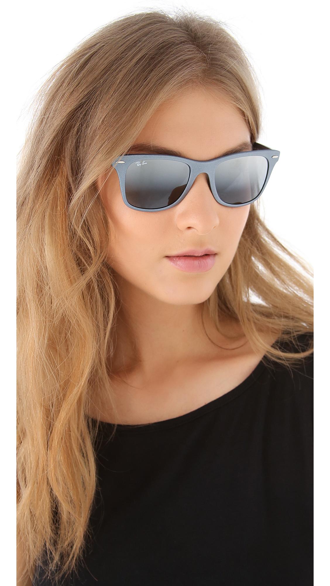 Lyst Ray Ban Light Force Matte Wayfarer Sunglasses In