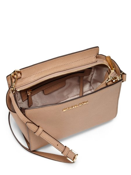 Lyst   Michael Michael Kors Selma Medium Leather Shoulder Bag in Pink Gallery