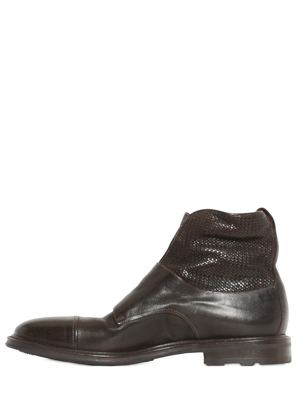 Rubber Buckle Boots Men