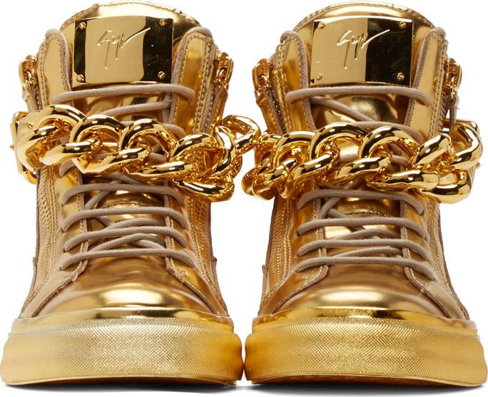 Giuseppe Zanotti Gold Chain Sandals