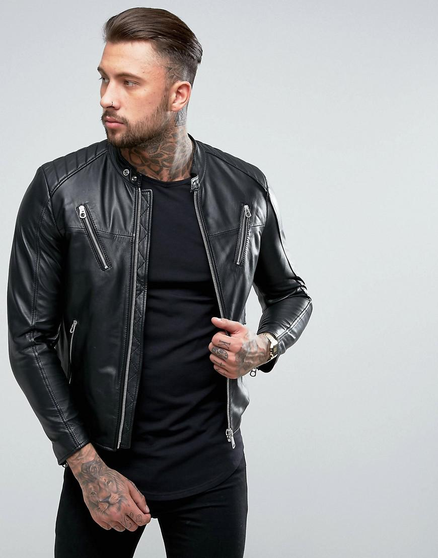 Leather Military Jackets Men