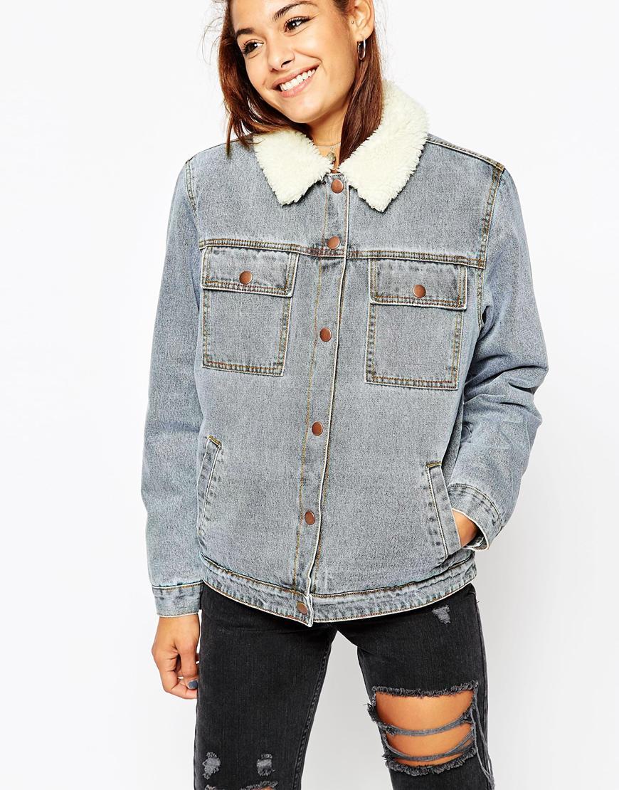 Mid Stonewash Blue Denim Jacket