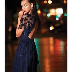 6767832fa68 Lyst Gianni Bini Sandra Beaded Tulle Dress In Blue