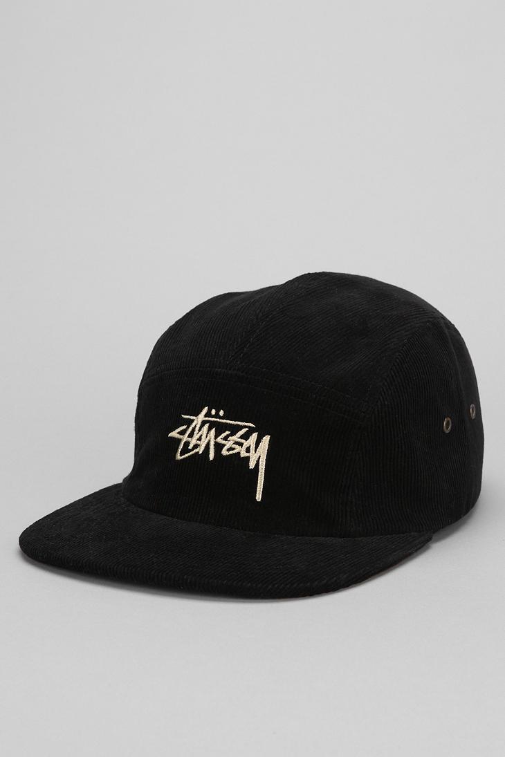Stussy Sock Corduroy 5panel Hat In Black For Men Lyst