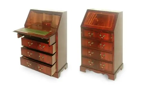 Reproduction Bureau Writing Desk   Chesterfields Direct