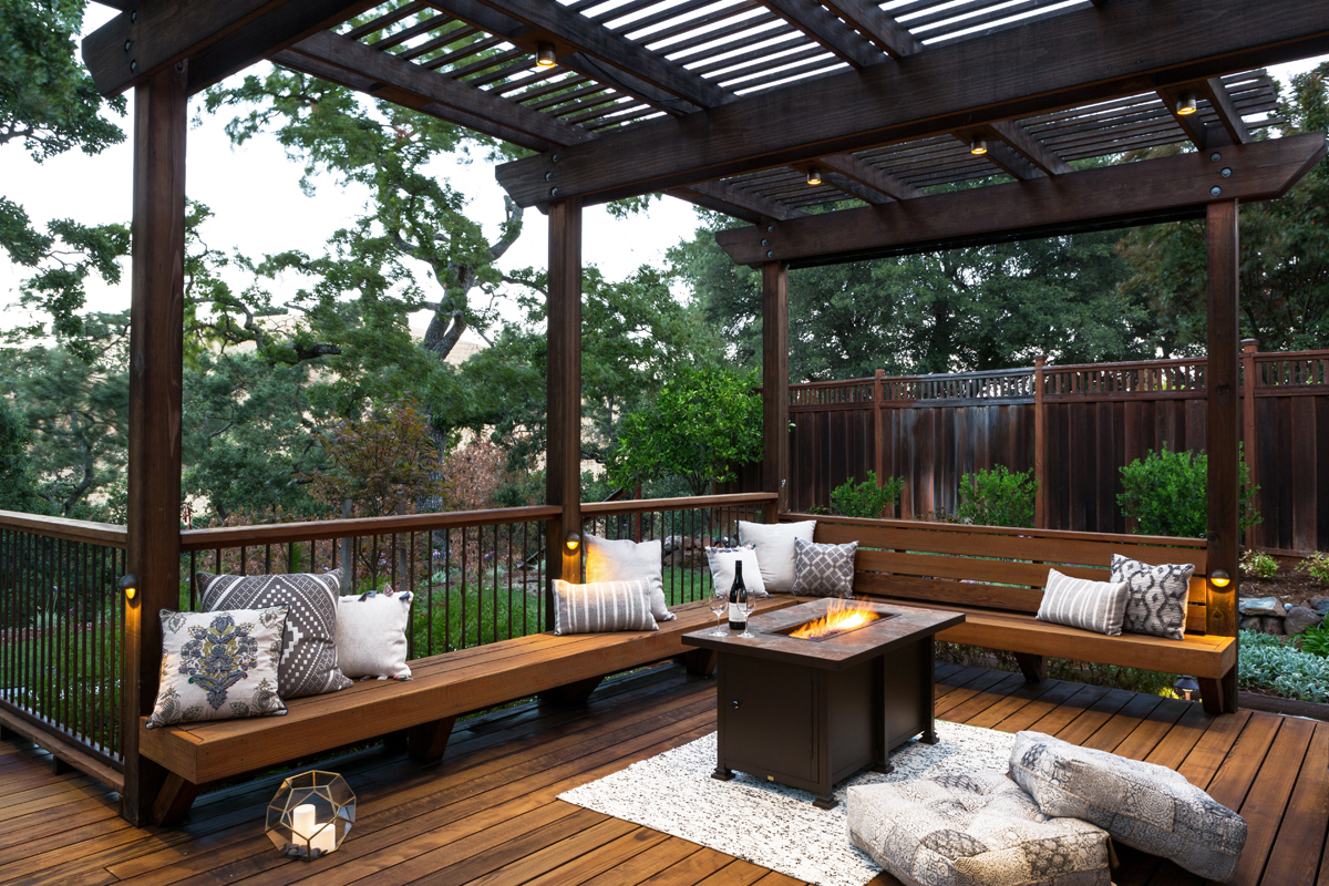 Deck And Patio Combination Creates Ideal Backyard
