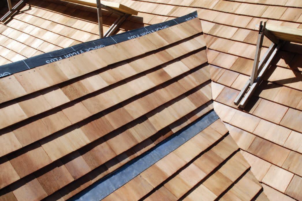 Weaving A Cedar Roof Valley Jlc Online