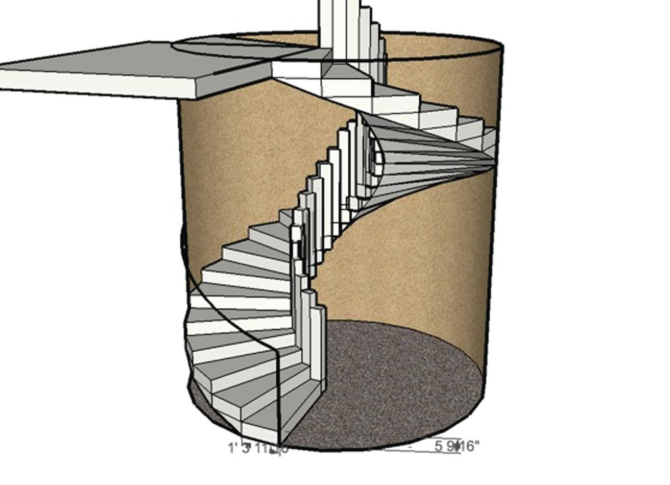 Forming A Circular Concrete Staircase Concrete Construction Magazine | 10 Foot Spiral Staircase | Reroute Galvanized | Lowes | Stair Kit | Winding Staircase | Staircase Kit