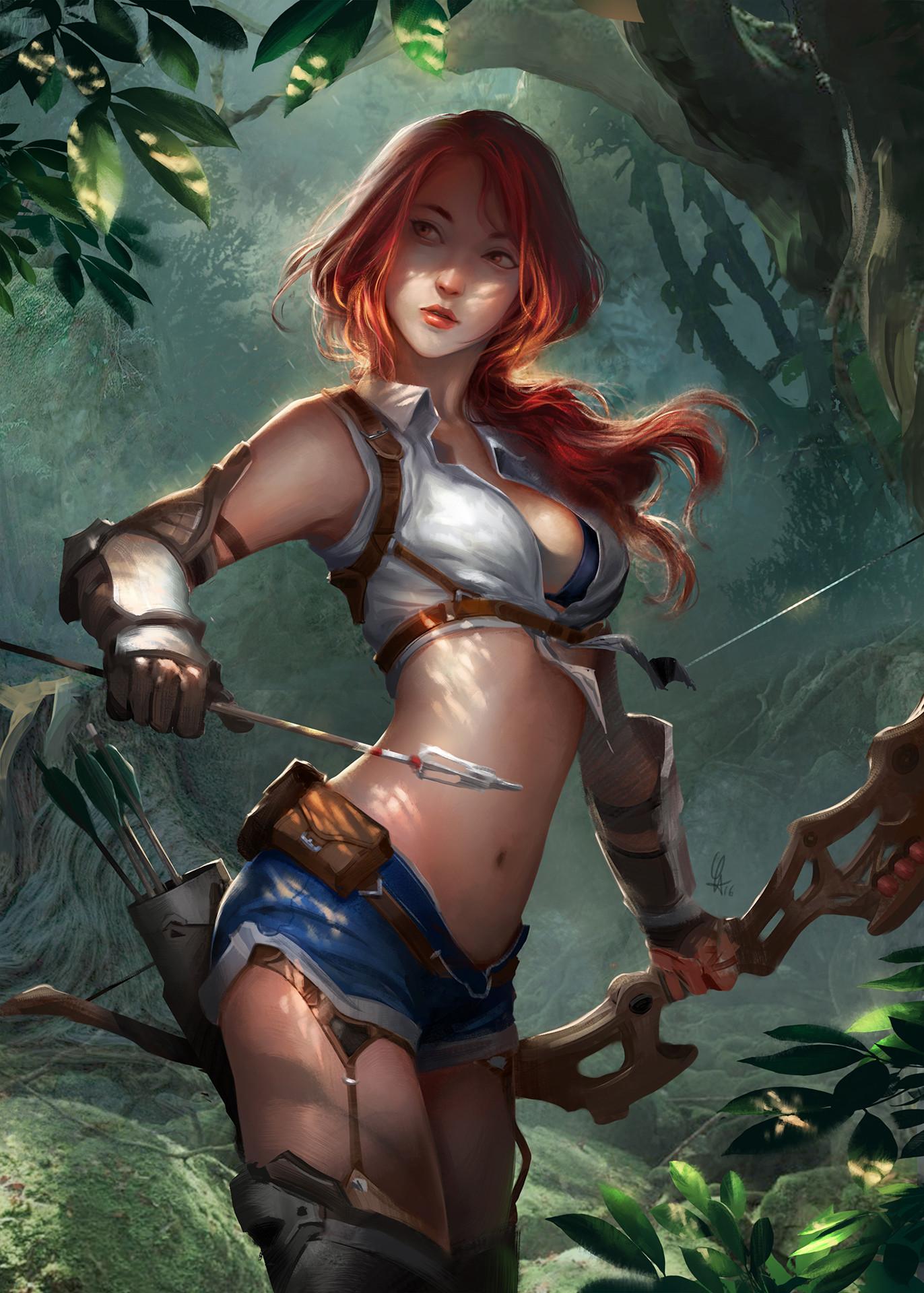 Haired Red Girl Deviantart Elf