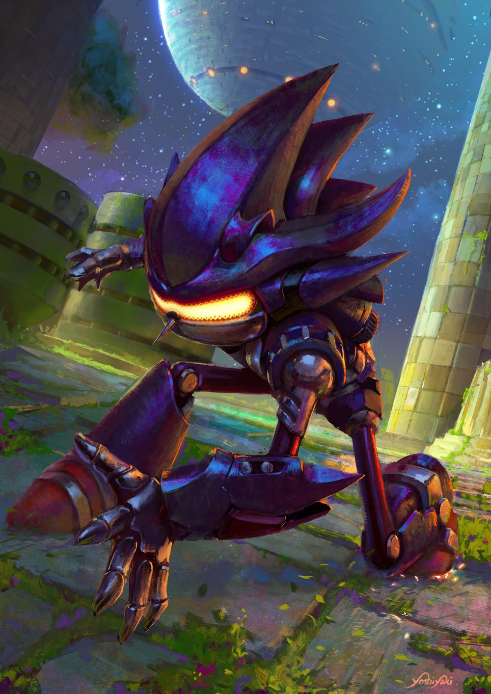 Artstation Mecha Sonic Sonic 3 Cassio Yoshiyaki