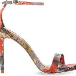f7482033c4a7 Lyst Steve Madden Stecy Floral Print Heeled Sandals In Pink