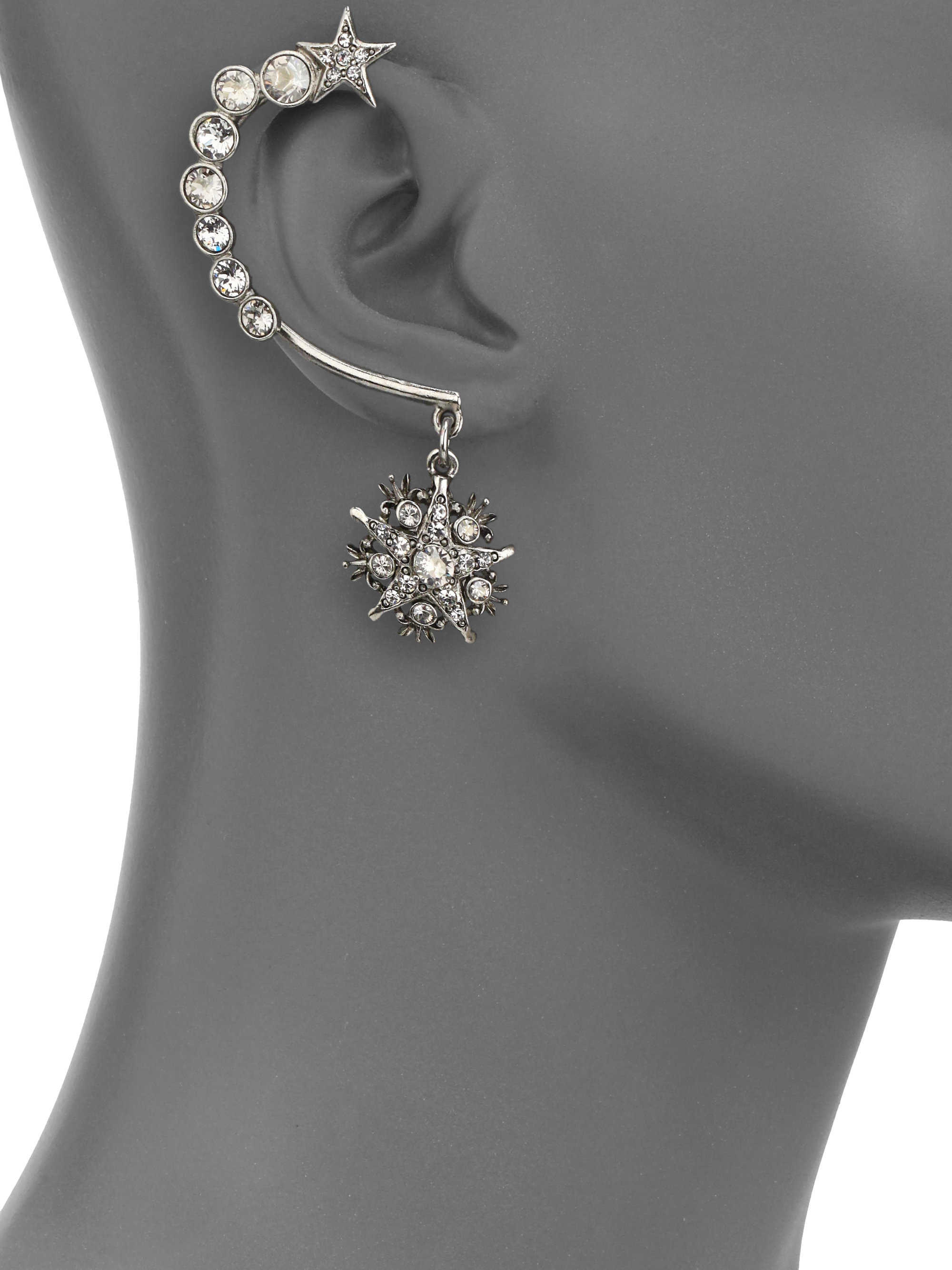 Lyst Oscar De La Renta Crystal Embellished Ear Cuff And