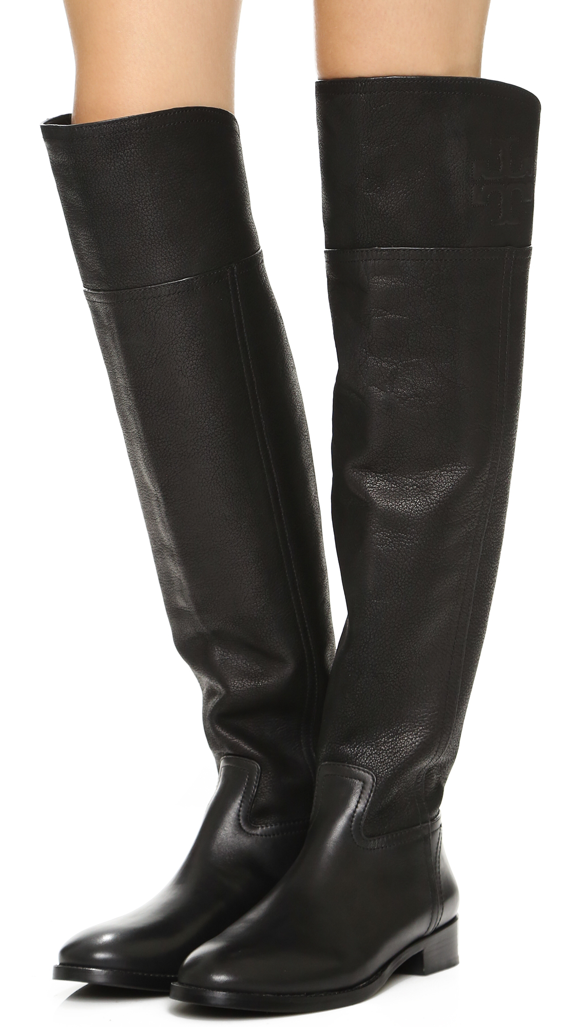 Lyst - Tory Burch Simone Over-The-Knee Boots in Black